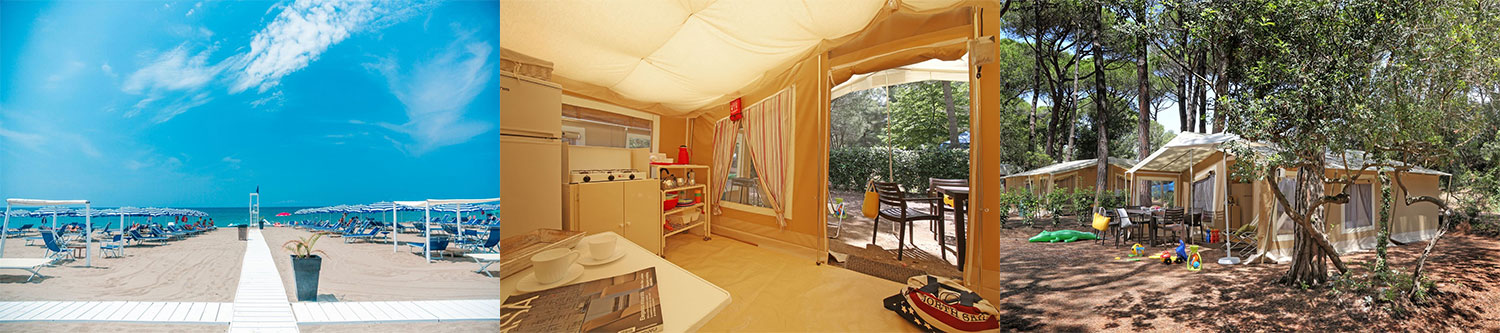glamptent op camping Etruria