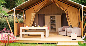 Glamping in lodge- safaritent